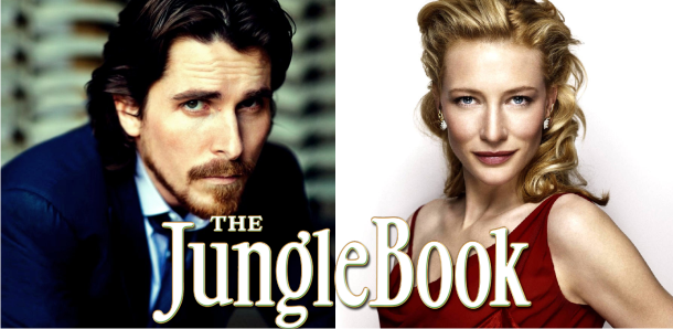 Christian Bale, Cate Blanchett e mais, se juntam ao elenco de Jungle Book: Origins