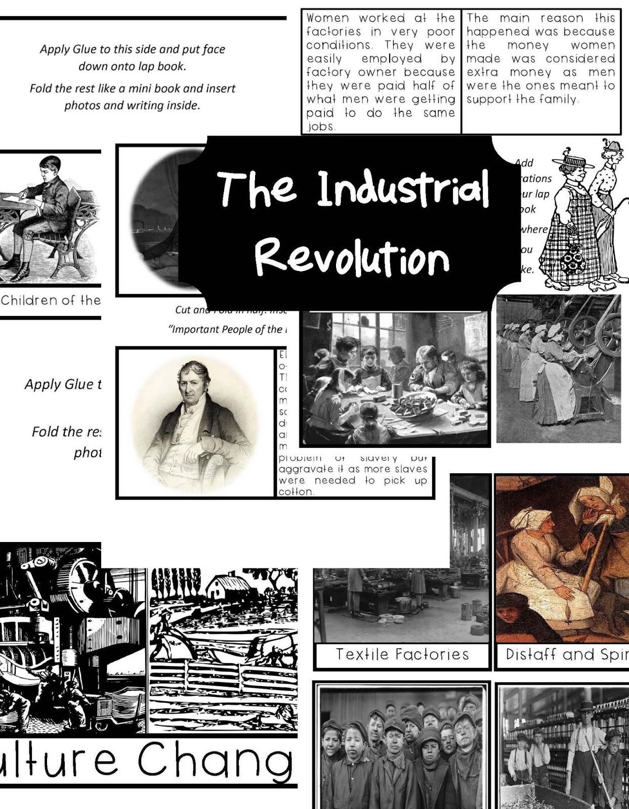 The Hermit Crabs Homeschool Industrial Revolution Lap Book