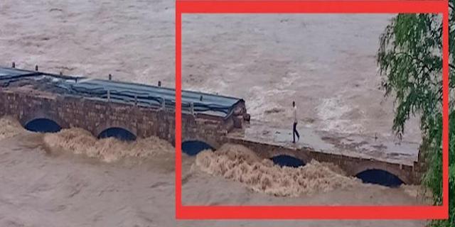 बाढ़ में बह गया नदी का पुल, मप्र से कट गया श्योपुर जिला, रामनिवास को पता ही नहीं | MP NEWS