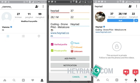 Membuat Screenshot Instagram Palsu di Android