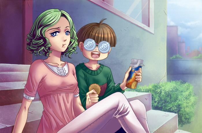 dolce flirt illustrazioni per bambini