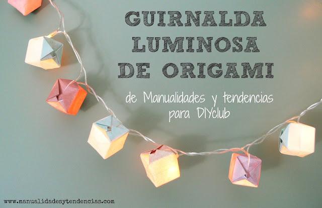 tutorial cubos de origami para guirnalda luminosa