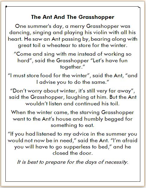 Cerita dalam Bahasa Inggris Pemalas