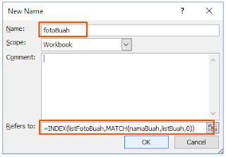 Memberi Nama Excel Define Name