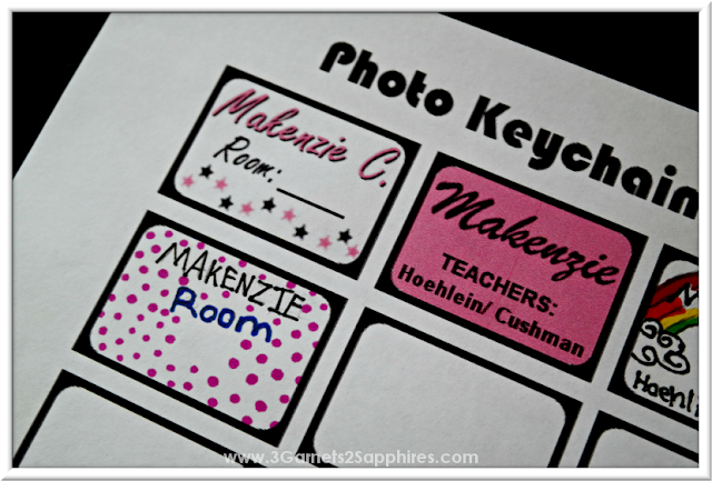 DIY Bag Tag Graphics Examples  |  3 Garnets & 2 Sapphires