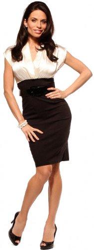 Dress4Cutelady  FITTED CAREER WOMAN COCKTAIL HIGH WAIST PENCIL SATIN ... 92f2c4564