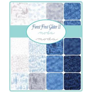 Moda Forest Frost II Glitter Fabric by Moda Fabrics