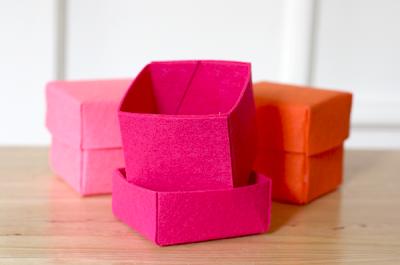 felt box template - Caixinha de feltro