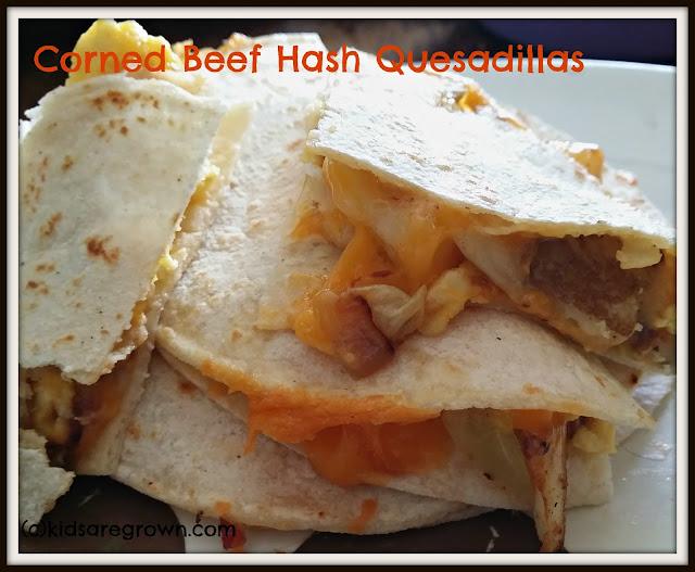 Corned Beef Hash Quesadillas