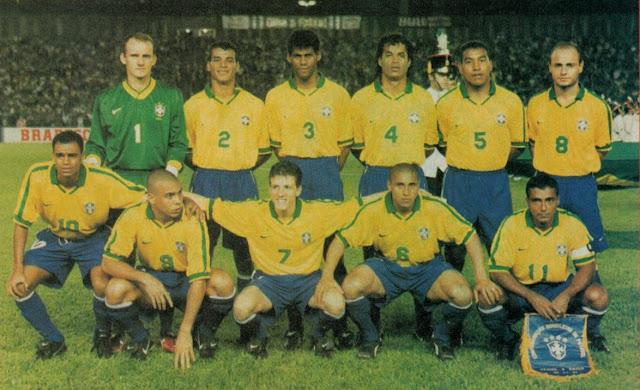 Formación de Brasil ante Chile, amistoso disputado el 2 de abril de 1997