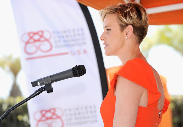 Princess Charlene attends The Princess Charlene of Monaco Foundation-USA Official Launch at the Annenberg Community Beach House in Santa Monica, California