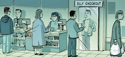 Funny Self Checkout Cartoon Joke Picture
