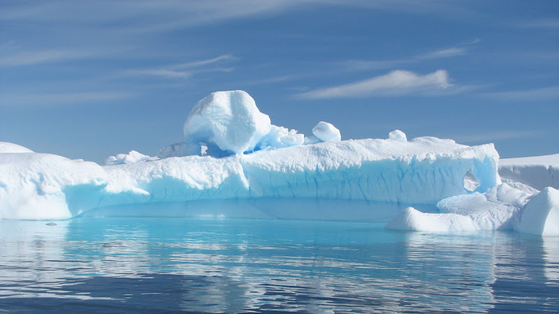 Iceberg Floating in Ocean