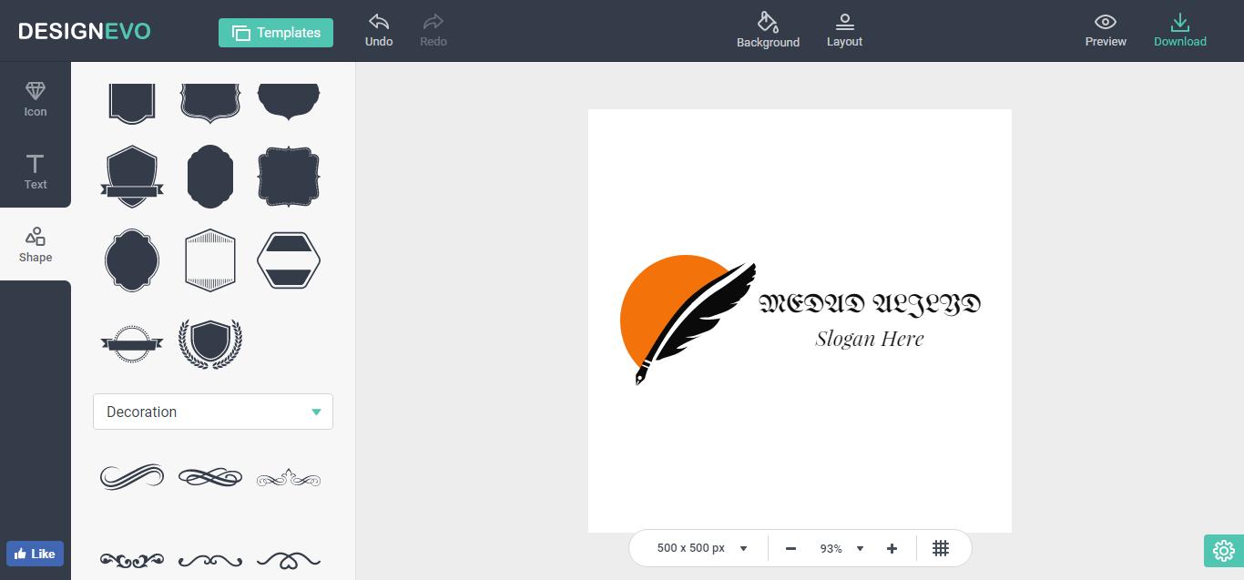 موقع مجاني لإنشاء الشعارات Logo بإحتراف مداد الجليد