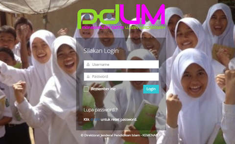 Format Username dan Password Aplikasi PDUM