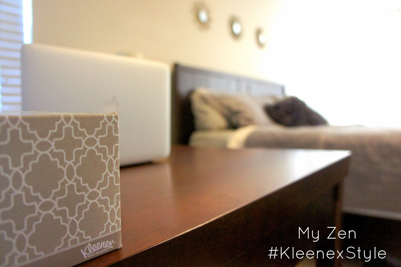 A Very Zen Bedroom with #KleenexStyle
