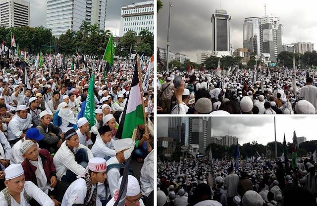 Beginilah Penampakan Aksi 313 Setelah Sejumlah Ulama Ditangkap, Lihat Foto-Fotonya!