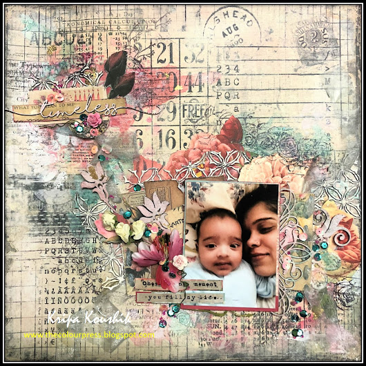 'Timeless' Scrapbooking Layout with 2crafty Chipboard