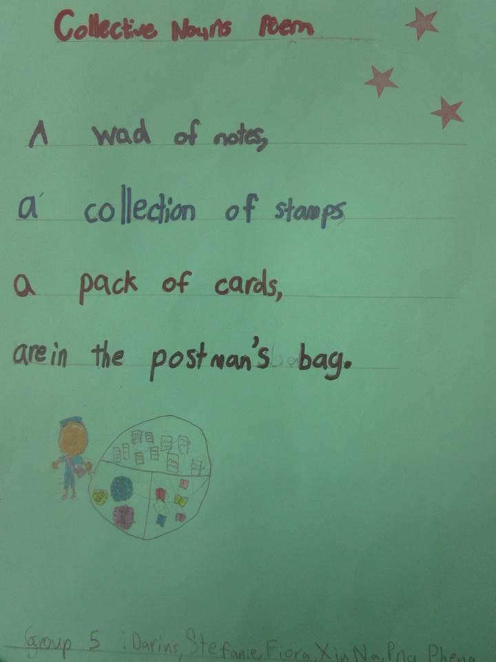 our collective noun poems