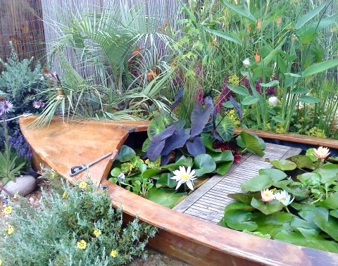 garden boat for landscaping