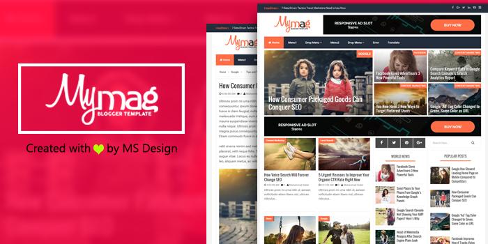 my mag professional magazine blogger template ms design