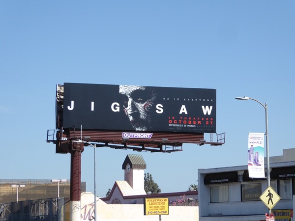 Jigsaw film billboard