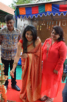 Sakshi Agarwal  in Orange Saree at Inauguration of Handloom And Handicraft exhibition ~  Exclusive 22.JPG