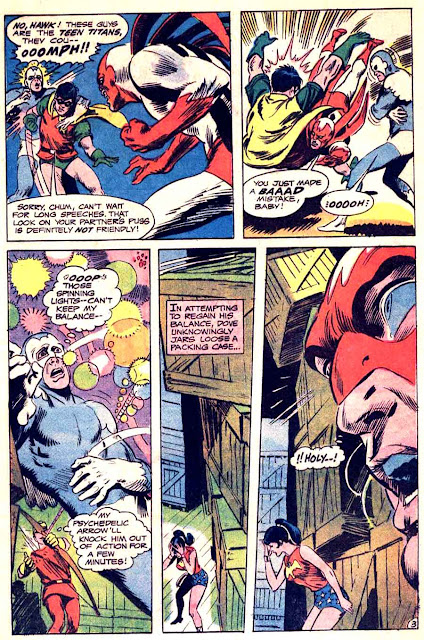 Teen Titans v1 #21 dc comic book page art by Neal Adams