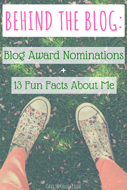 About Me: Blog Award Nominations and 13 Fun Facts