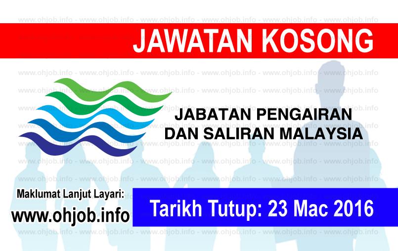 Jawatan Kerja Kosong Jabatan Pengairan dan Saliran Negeri Kedah logo www.ohjob.info mac 2016