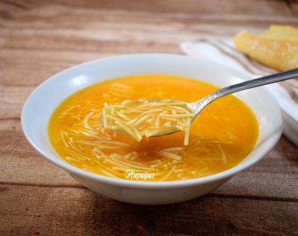Sopa de Fideos a la Mexicana. Vídeo Receta
