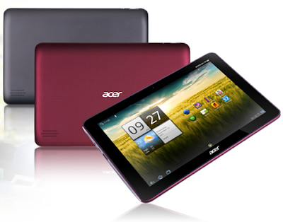 Acer Iconia Tab A200 Specifications- LAUNCH Announced 2012, January  Tablet with no support for GSM voice communication, SMS, and MMS Also known as Acer Iconia Tab A200-10G16U This is not a GSM device, it will not work on any GSM network worldwide. DISPLAY Type Capacitive touchscreen, 16M colors Size 10.1 inches (~65.0% screen-to-body ratio) Resolution 800 x 1280 pixels (~149 ppi pixel density) Multitouch Yes  - Acer UI BODY Dimensions 260 x 175 x 12.4 mm (10.24 x 6.89 x 0.49 in) Weight 700 g (1.54 lb) SIM No PLATFORM OS Android OS, v3.2 (Honeycomb), upgradable to v4.0 (Ice Cream Sandwich) CPU Dual-core 1.0 GHz Cortex-A9 Chipset Nvidia Tegra 2 T20 GPU ULP GeForce MEMORY Card slot microSD, up to 32 GB (dedicated slot) Internal 8/16 GB, 1 GB RAM CAMERA Primary 2 MP Secondary No Features Video-calling Video Yes NETWORK Technology No cellular connectivity COMMS WLAN COMMS WLAN Wi-Fi 802.11 b/g/n, hotspot GPS Yes USB microUSB v2.0, USB v2.0, USB Host Radio No Bluetooth v2.1, A2DP, EDR FEATURES Sensors Accelerometer, gyro Messaging Email, Push Email, IM Browser HTML, Adobe Flash Java Yes, via Java MIDP emulator SOUND Alert types Vibration; MP3, WAV ringtones Loudspeaker Yes 3.5mm jack Yes BATTERY  Non-removable Li-Po 3260 mAh battery Stand-by  Talk time Up to 8 h (multimedia) Music play  MISC Colors Black  - MP3/WAV/WMA/eAAC+ player - XviD/MP4/H.264 player - Organizer - Document viewer - Predictive text input