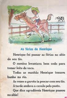 Leitura As férias de Henrique