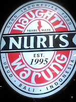 Sign, Naughty Nuri's Restaurant, Life Centre, KL, Malaysia