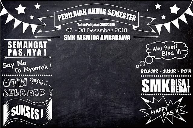 Desain Banner Photo Booth Sekolah Keren