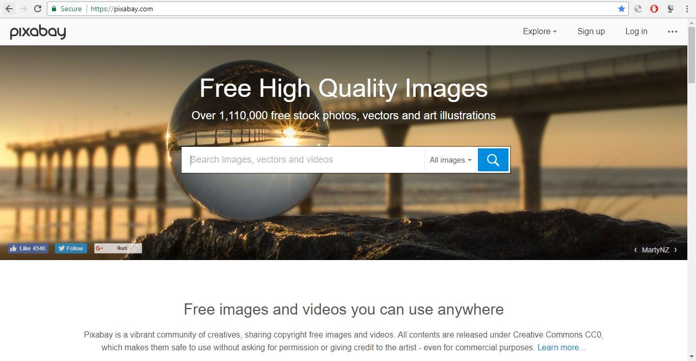 Tempat mendapatkan gambar gratis untuk web dan blog