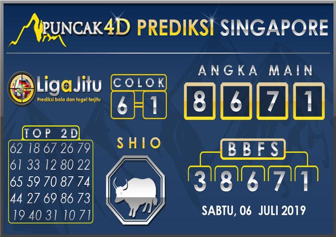 PREDIKSI TOGEL SINGAPORE PUNCAK4D 06 JULI 2019