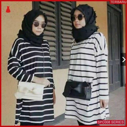 SCP008T47 Tunik Baju Jumbo Salur Atasan Muslim Wanita | BMGShop