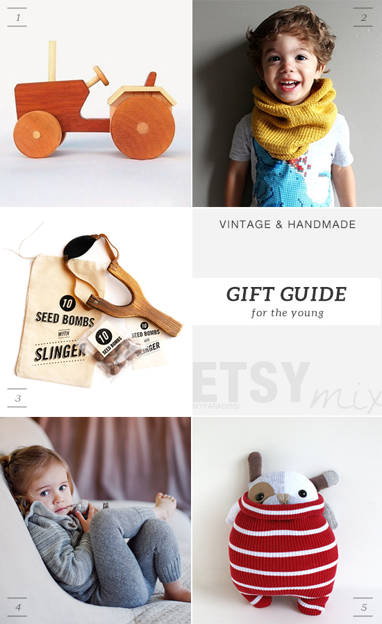 Vintage and handmade holidays gift guide from Etsy for kids by My Paradissi