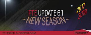 PES 2017 PTE Patch 6.1 Rilis (Update)