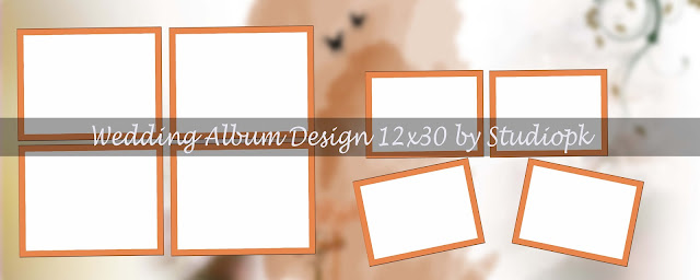 Wedding Album Design 12x30 Psd
