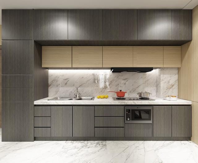 Thiết kế chung căn hộ Sơn Trà Ocean View 2 phòng ngủ - Phòng bếp