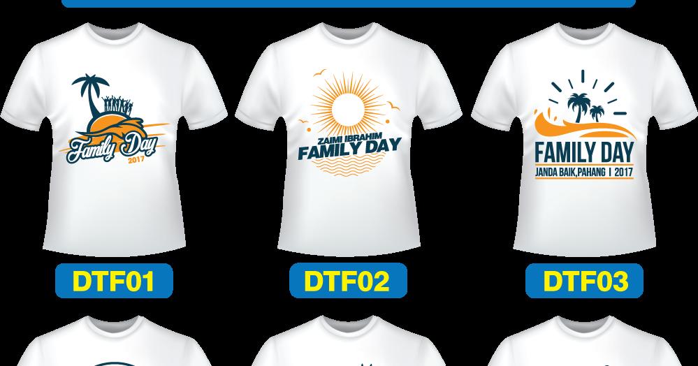Koleksi Design Baju T Shirt Family Day Cetak Baju Murah Printing