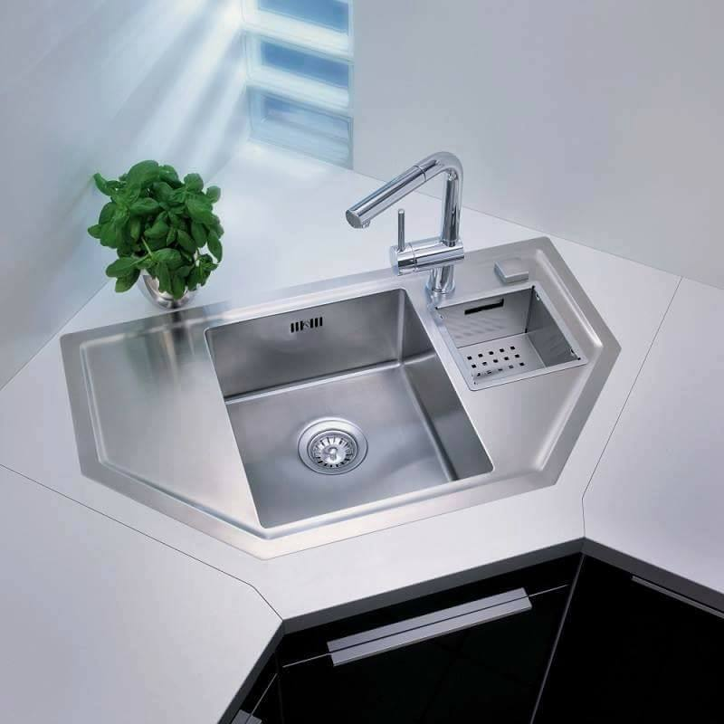 Different Types Of Kitchen Layouts: Unusual & Unique Corner Sink Types For Different Kitchen