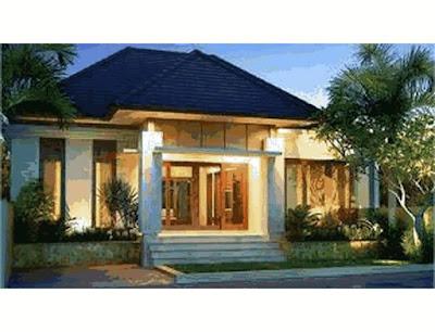 rumah sederhana di desa yang mewah