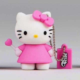 Gambar Flashdisk Berkarakter Pink Hello Kitty