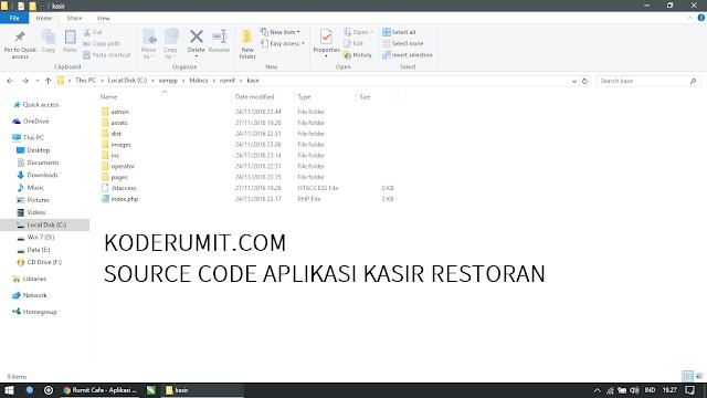 Source Code Aplikasi Kasir Kafe Restoran menggunakan PHP, MySQL, Bootstrap