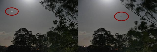Strange bright UFO spotted over Brisbane, Australia during full moon rising  UFO%2Bbright%2BBrisbane%2BAustralia
