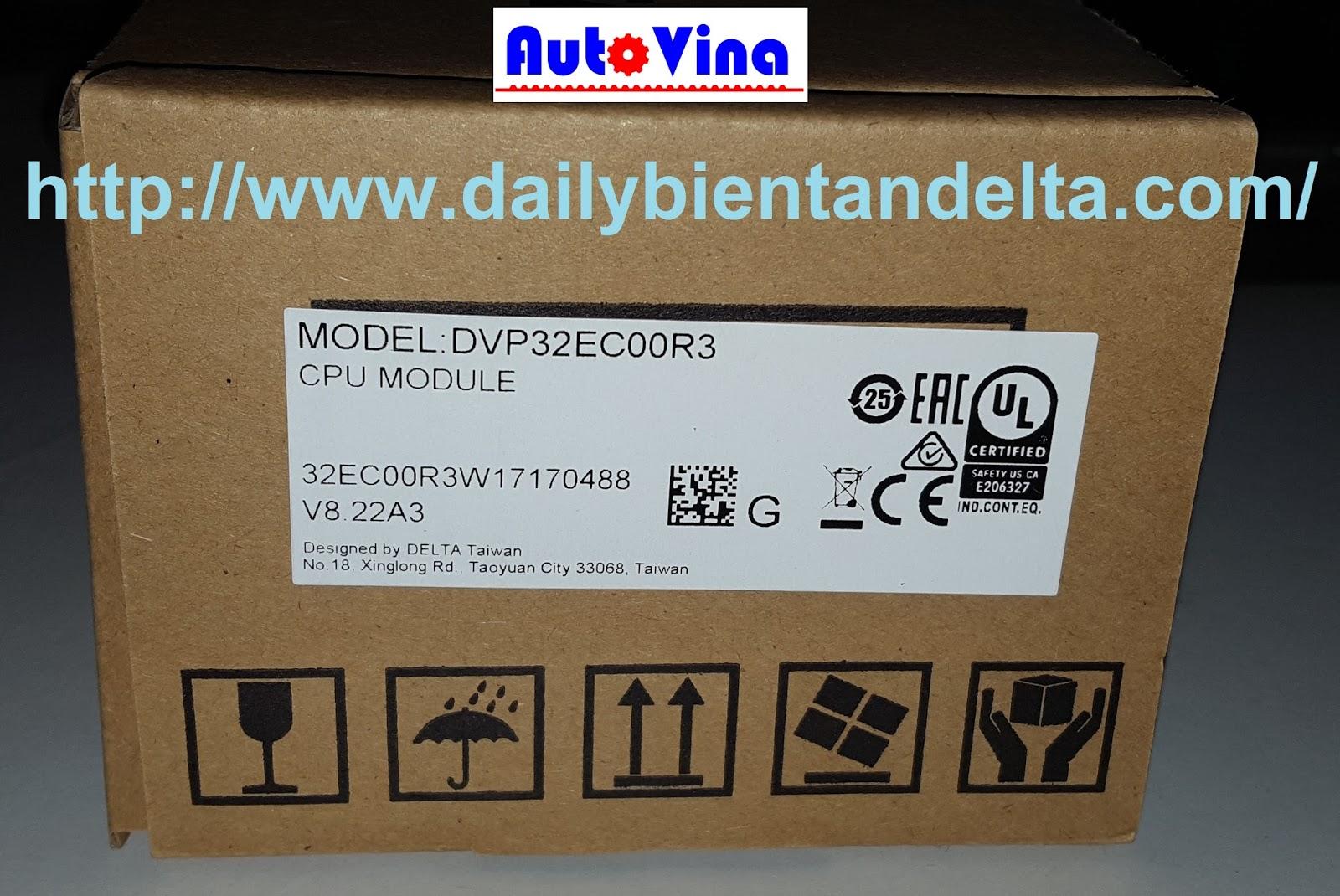Công ty Auto Vina nhập khẩu và phân phối bộ điều khiển PLC Delta DVP32EC00R3