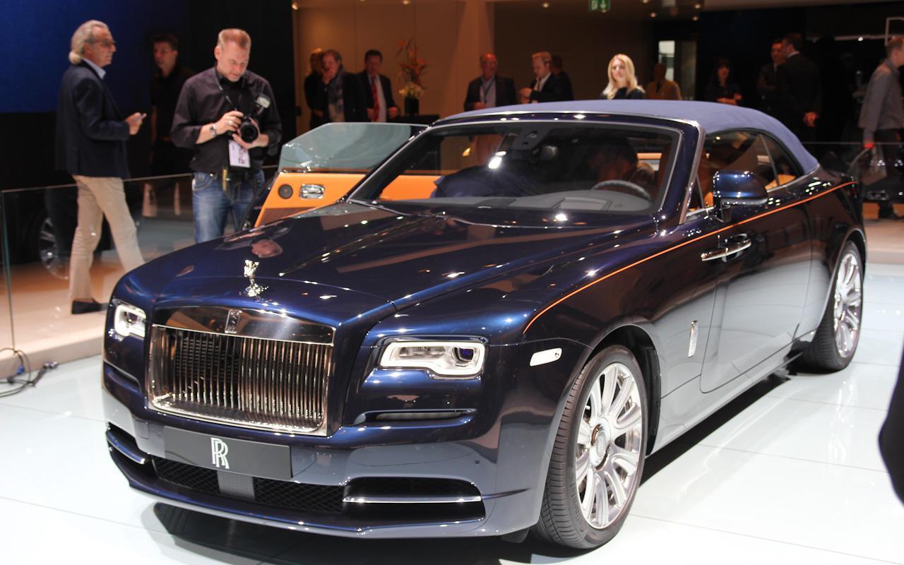 Shining star Frankfurt 2015 : Rolls-Royce Dawn live video ...